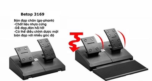 Vô lăng đua xe USB Betop 3169