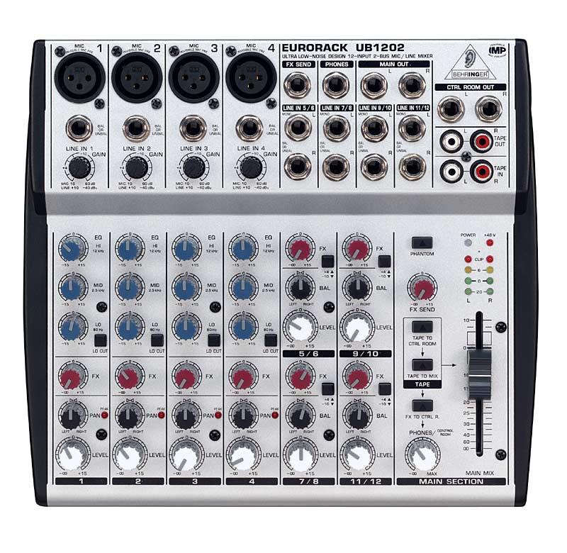 Mixer thu âm Behringer UB 1202 (12 kênh)