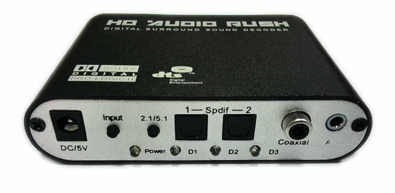 Bộ giải mã âm thanh 5.1 DTS HD AUDIO RUSH