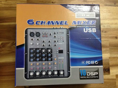 Mixer thu âm SMR 06 kênh