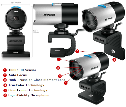 Webcam Microsoft LifeCam Studio HD 1080