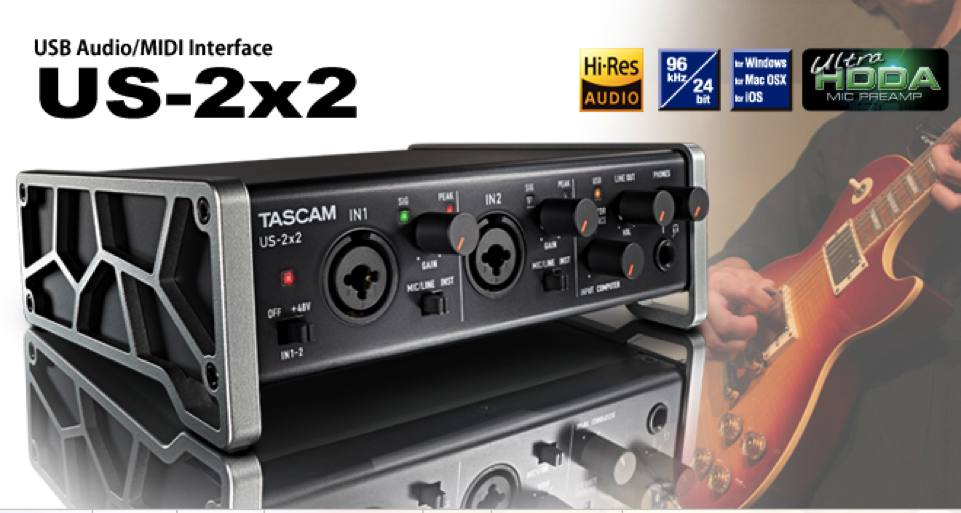 Sound card thu âm Tascam US 2x2