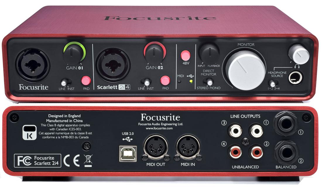 Sound card thu âm Focusrite Scarlett 2i4