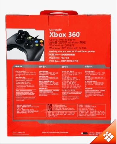 Gamepad Microsoft Xbox360 cho PC & Xbox (có dây) chính hãng  - Mã số 0004
