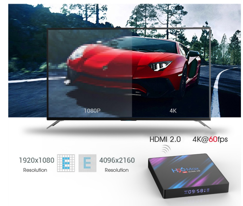Enybox H96 MAX RAM 4GB/32GB Android 9.0 TV Box