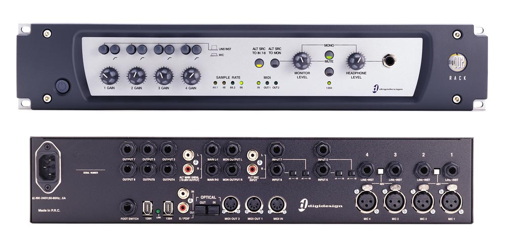 Sound card thu âm Digidesign 002
