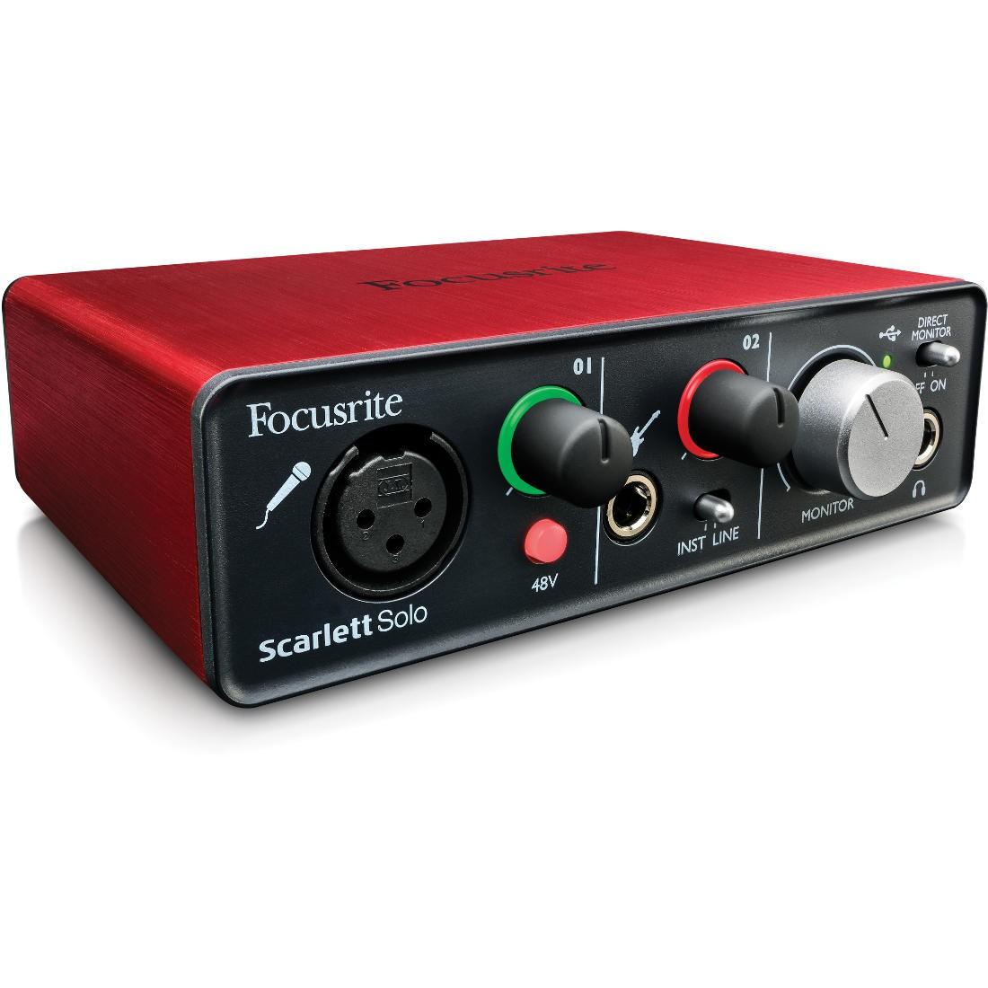 Sound card thu âm Focusrite Scarlett Solo