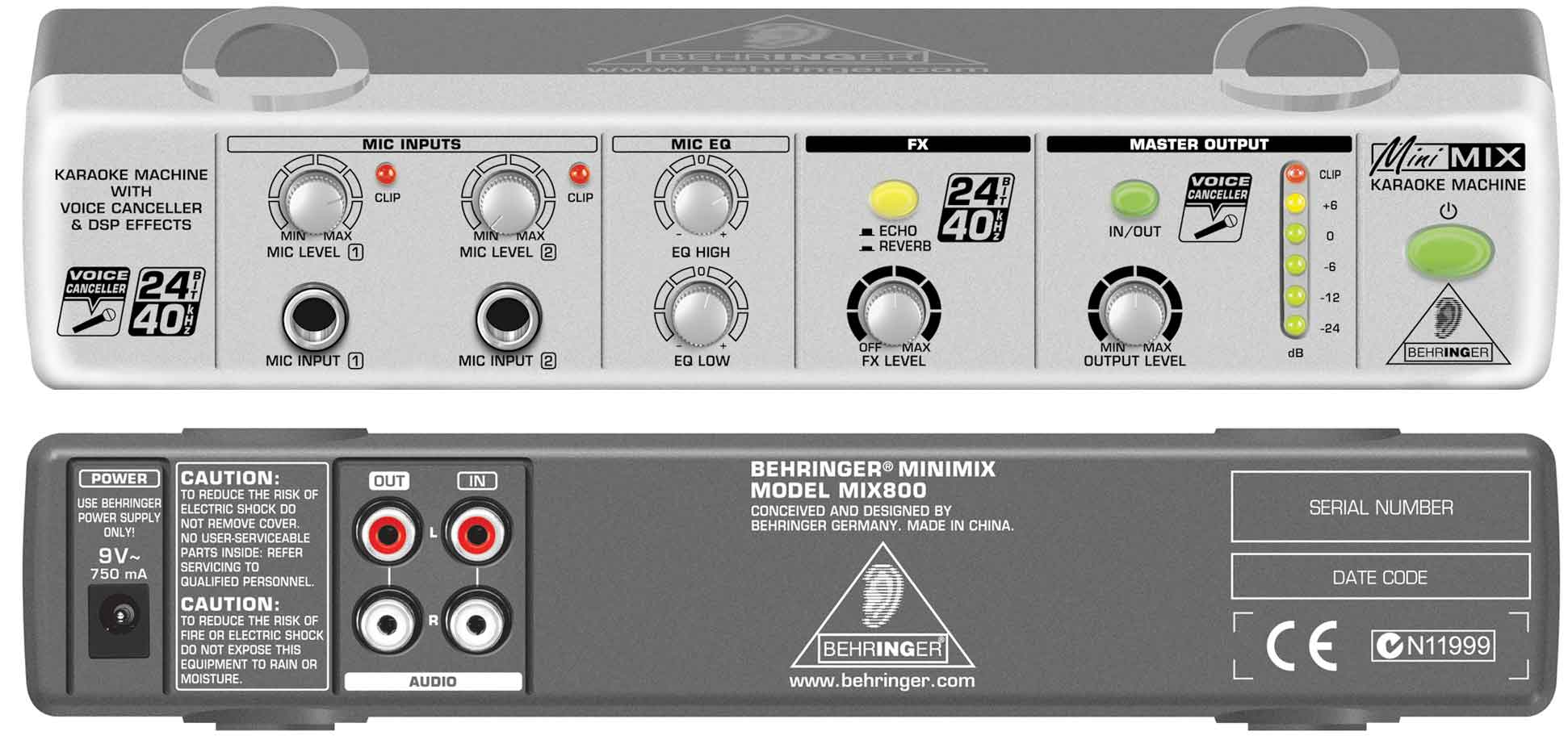 Thiết bị hát karaoke online Behringer MIX800