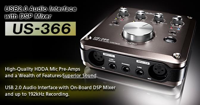Sound card thu âm USB Tascam US-366