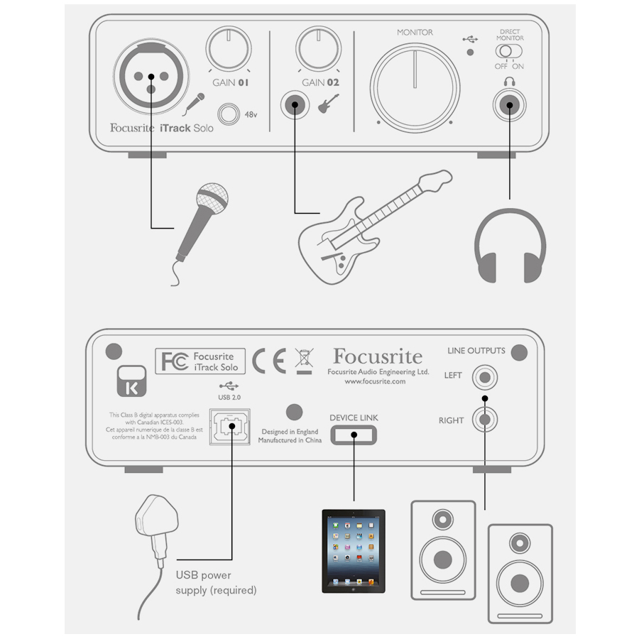 Sound card thu âm Focusrite iTrack Solo