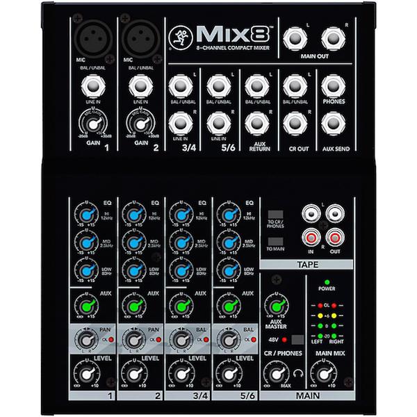 Mixer thu âm Mackie Mix 8 (8 kênh)