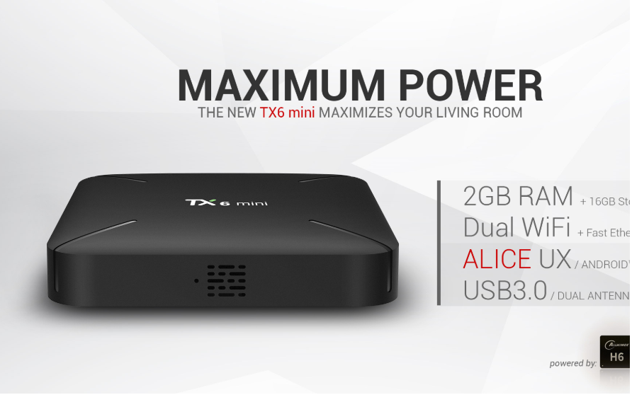 Tanix TX6 Mini RAM 2GB/16GB Android 9.0 TV Box