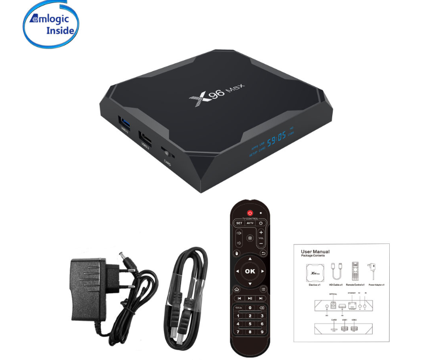 Enybox X96 MAX Amlogic S905x2 RAM 4GB/32GB Android 8.1 TV Box