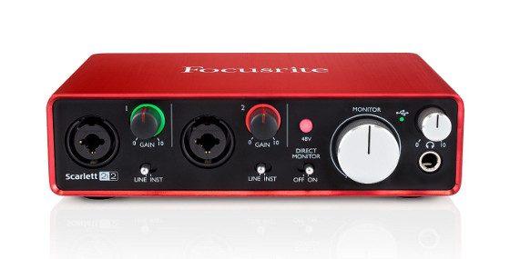 Sound card thu âm USB Focusrite Scarlett 2i2 II 192kHz