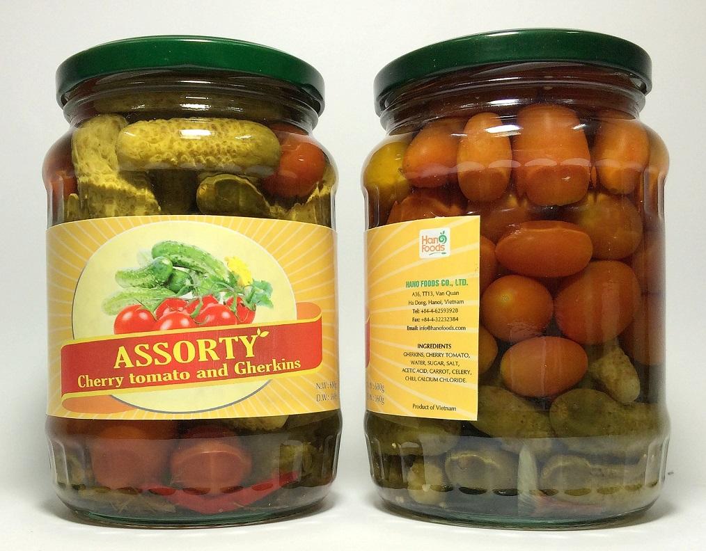 Assorty (Cherry tomato + Gherkins)