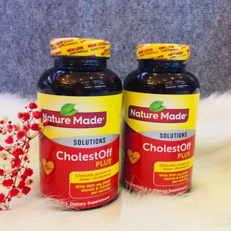 Viên uống giảm Cholesterol -CholestOff Plus 210 viên của Nature Made –