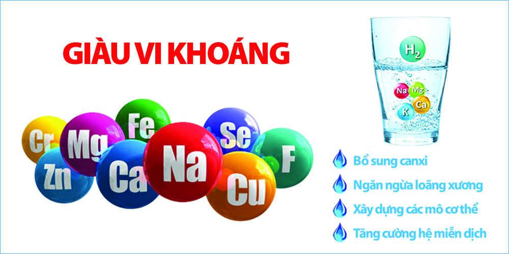 Nước ion kiềm giàu vi khoáng - Điện máy Kim Long Phát