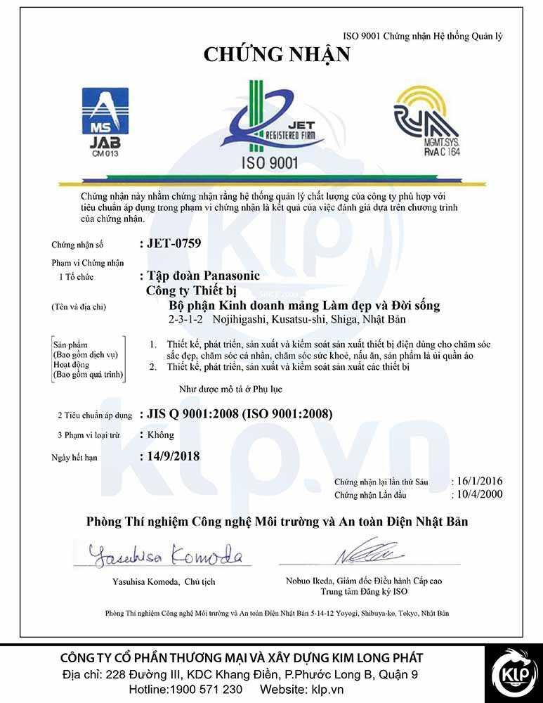 Chứng nhận hệ thống quản lý chất lượngISO 9001:2008
