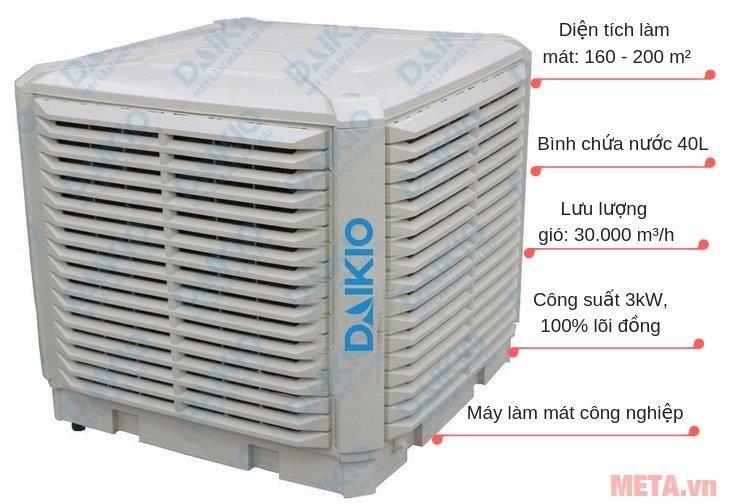 CHO THUÊ MÁY LÀM MÁT CÔNG NGHIỆP DK-18000TX/TL/TN Giới thiệu các tính năng kỹ thuật