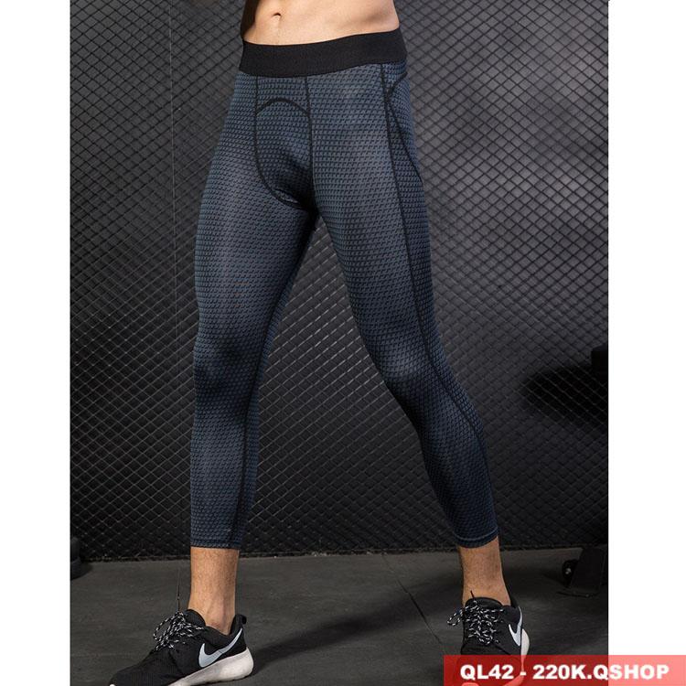 Quần legging tập gym cao cấp dạng lửng QL42