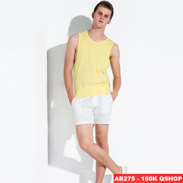 Áo 3 lỗ thun cotton mềm mịn AB275