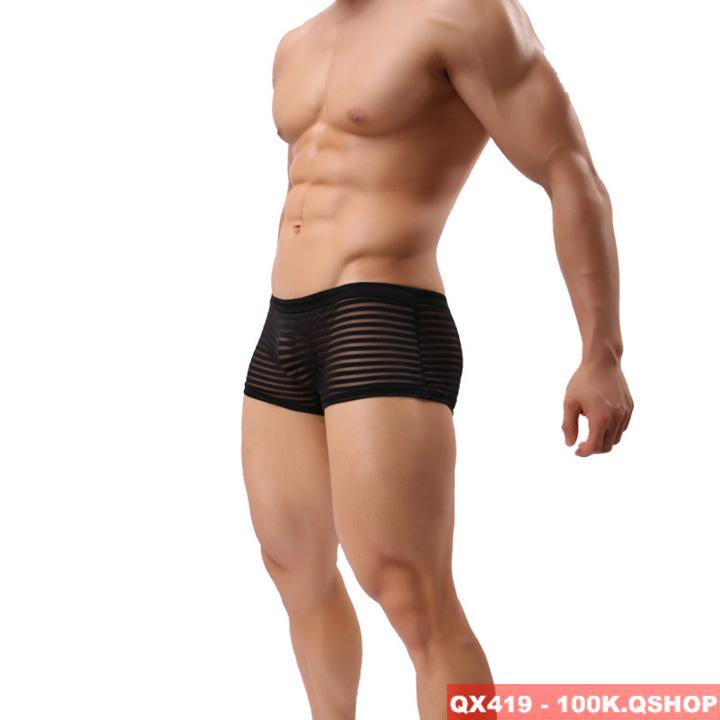 [Sale tại web] Quần boxer lưới sexy QX419