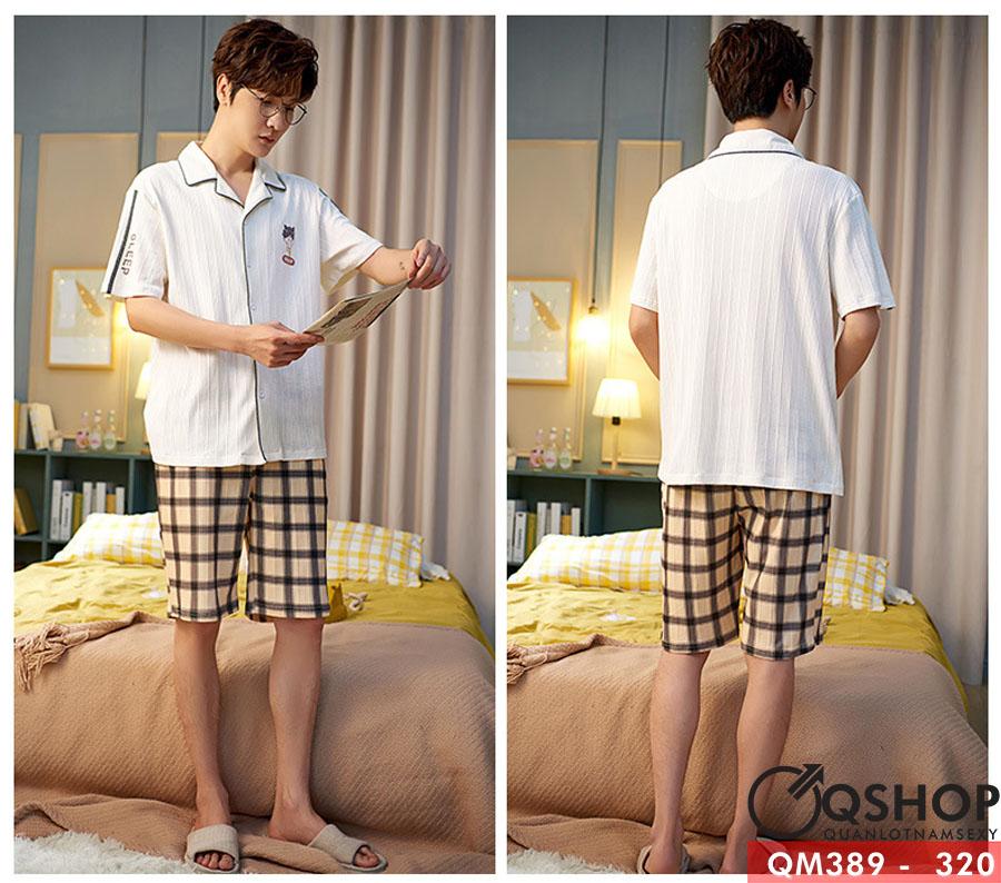 Bộ đồ pijama nam ngắn tay QM389