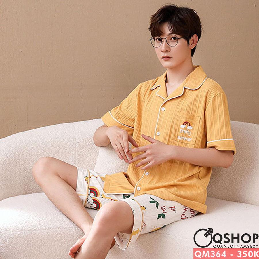Bộ đồ pijama nam quần ngắn, tay ngắn QM364