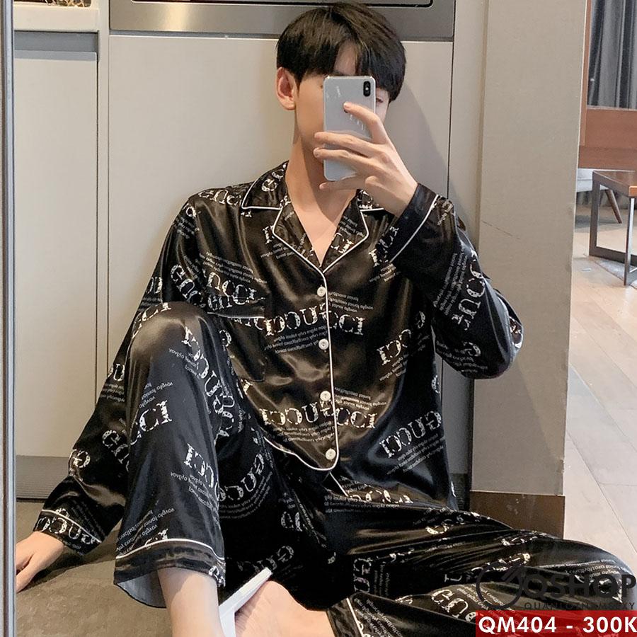 Bộ đồ pijama nam quần dài, tay dài QM404