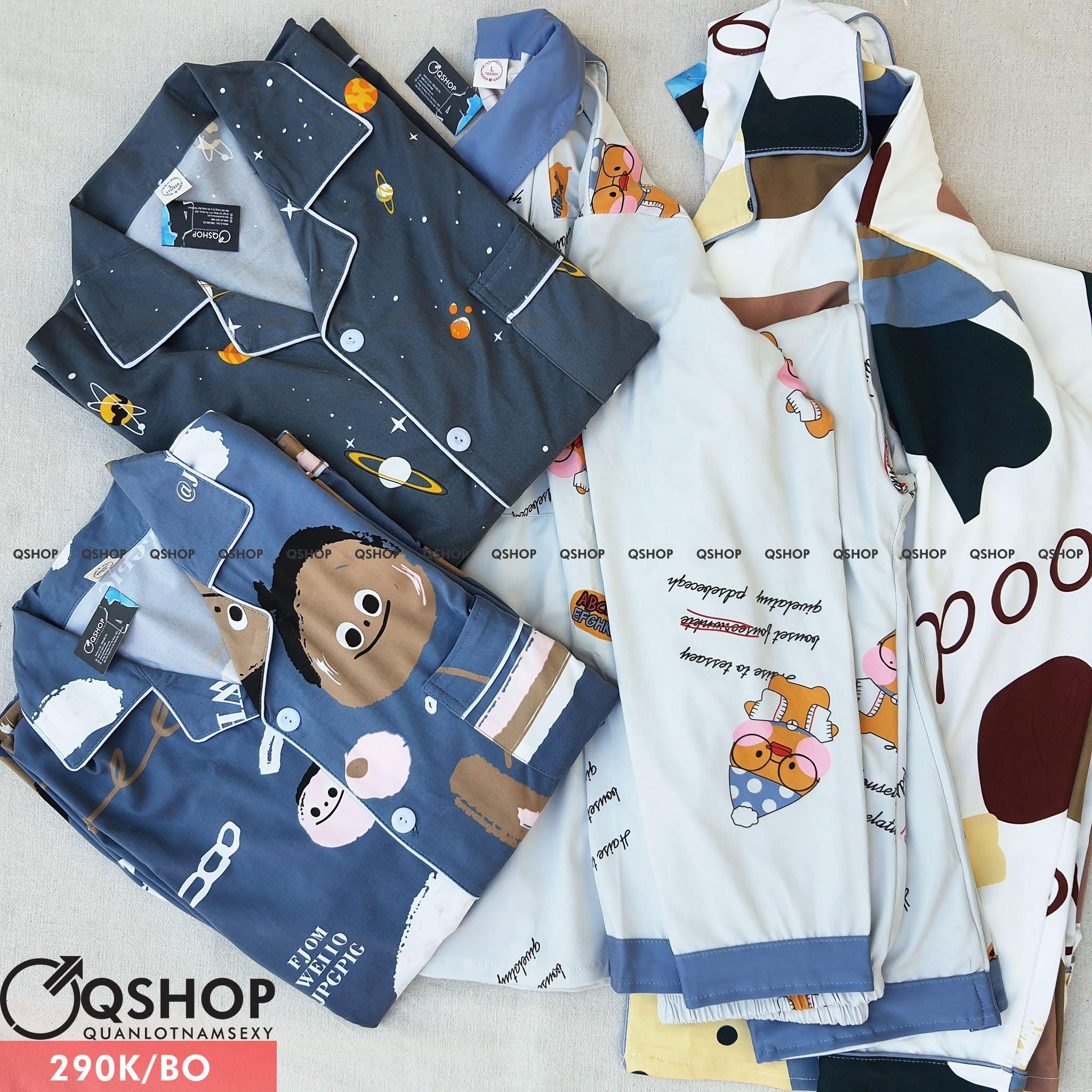 Bộ pijama nam thun cotton mềm mịn QM260