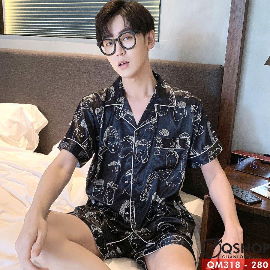 Bộ pijama nam quần ngắn QM318