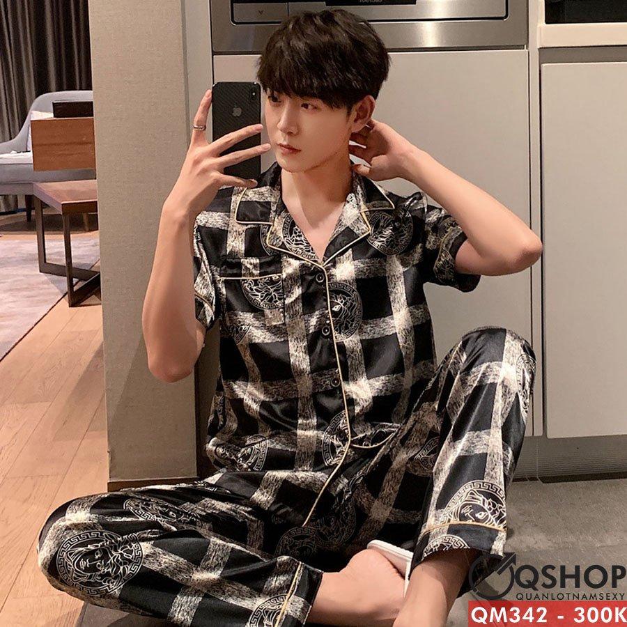 Bộ đồ pijama nam quần dài, ngắn tay QM342