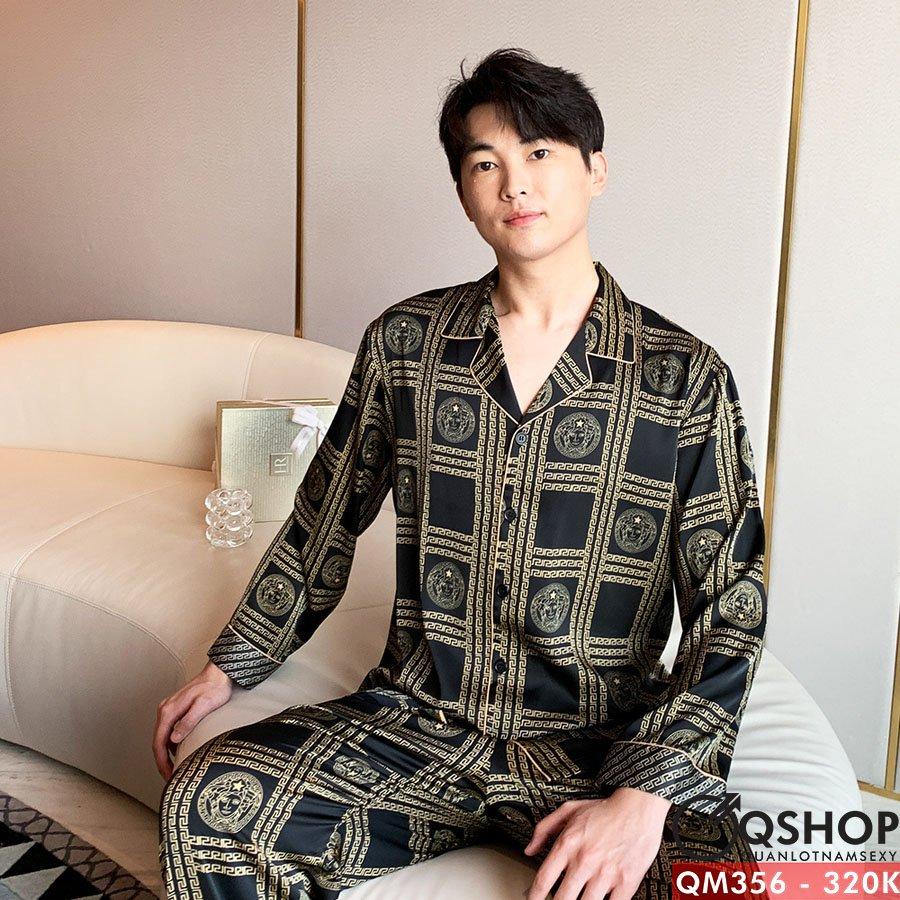 Bộ đồ pijama nam quần dài, tay dài QM356