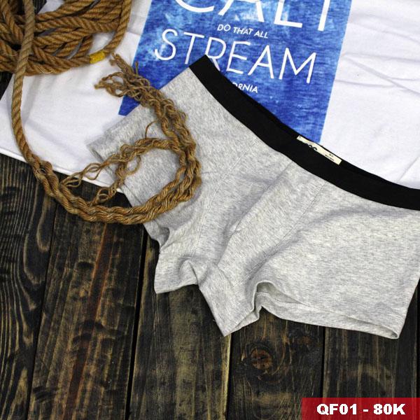 Quần boxer nam thun cotton thoáng mát QF01