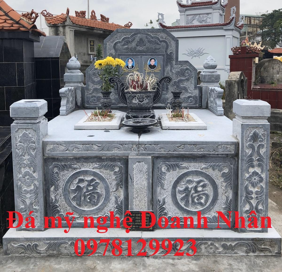Lắp mộ đá đôi cho gia đình chú Tuấn - Mỹ Hào Hưng Yên