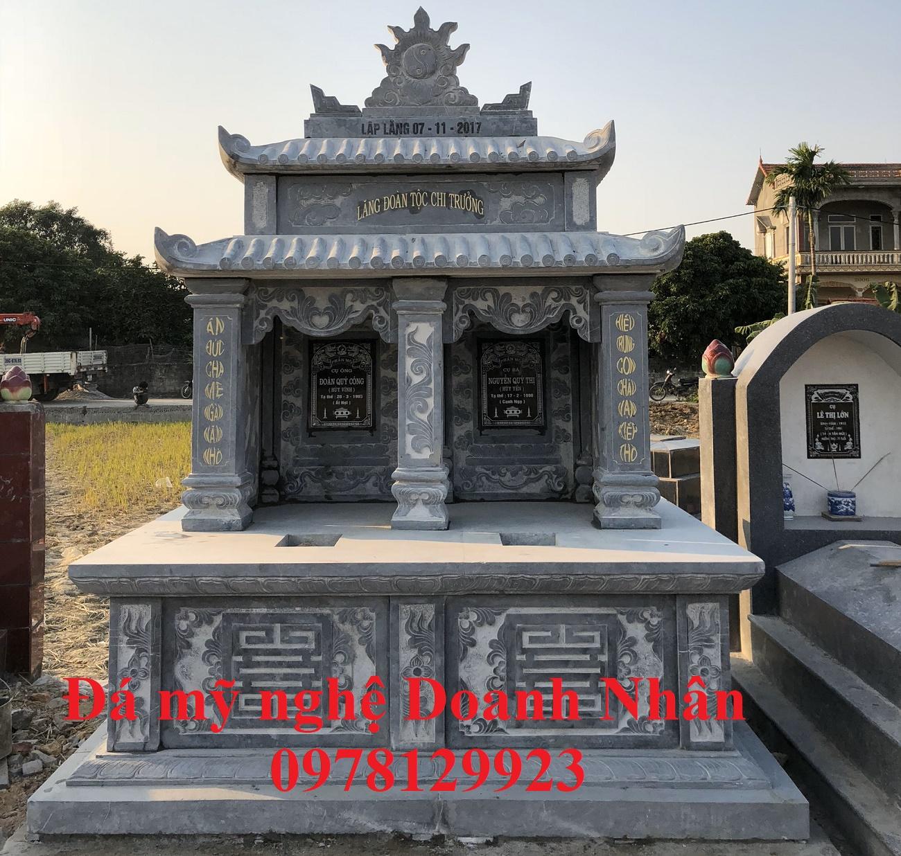 Mộ đá đôi gia đình chú Bút Quán Gỏi - Hưng Yên