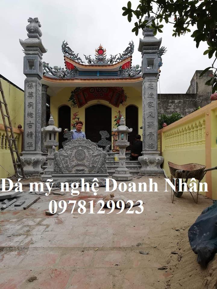 Thi công cột đá đẹp nhà thờ tại Quảng Bình