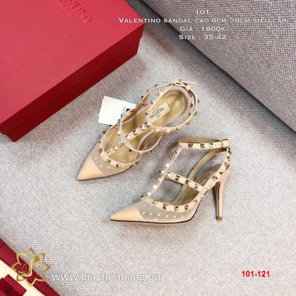 101-121 Valentino sandal cao 6cm , 9cm siêu cấp