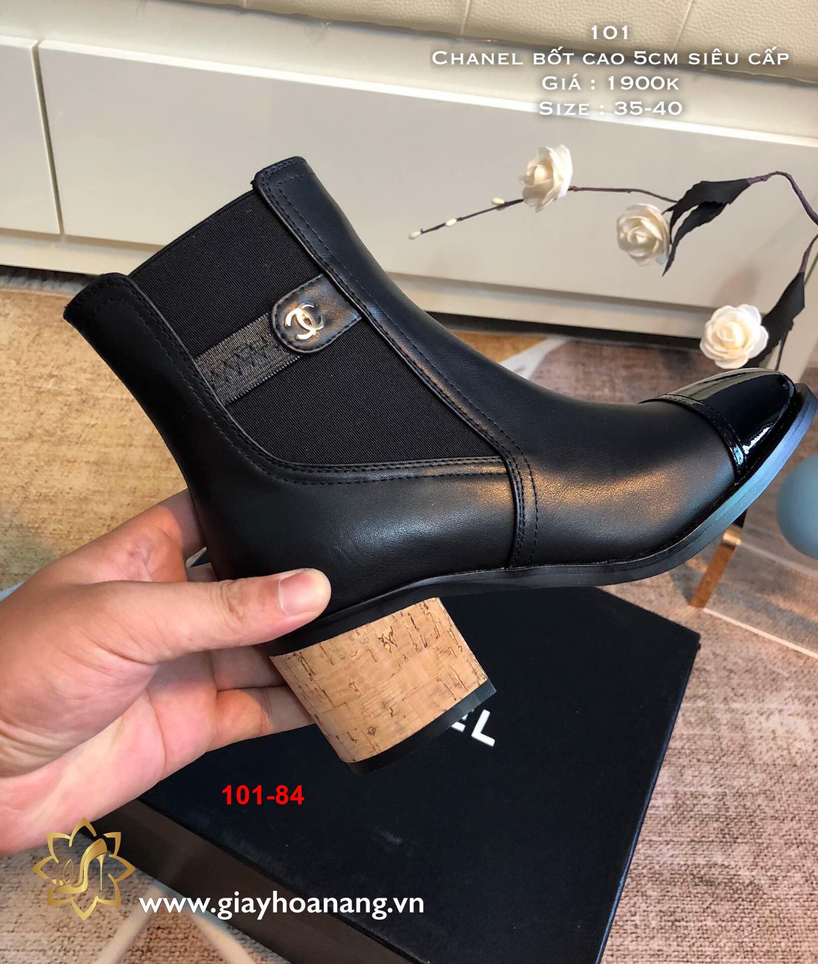 101-84 Chanel bốt cao 5cm siêu cấp