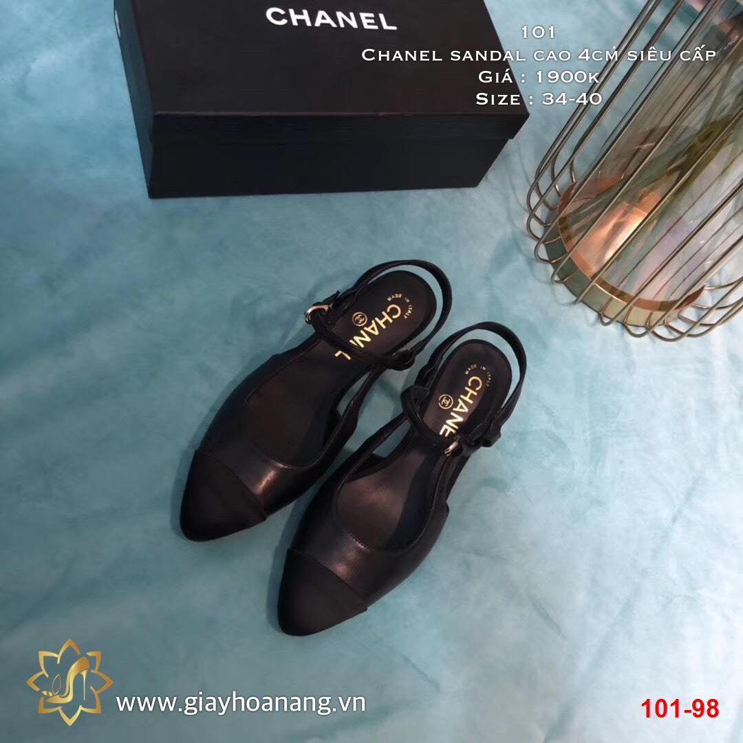 101-98 Chanel sandal cao 4cm siêu cấp