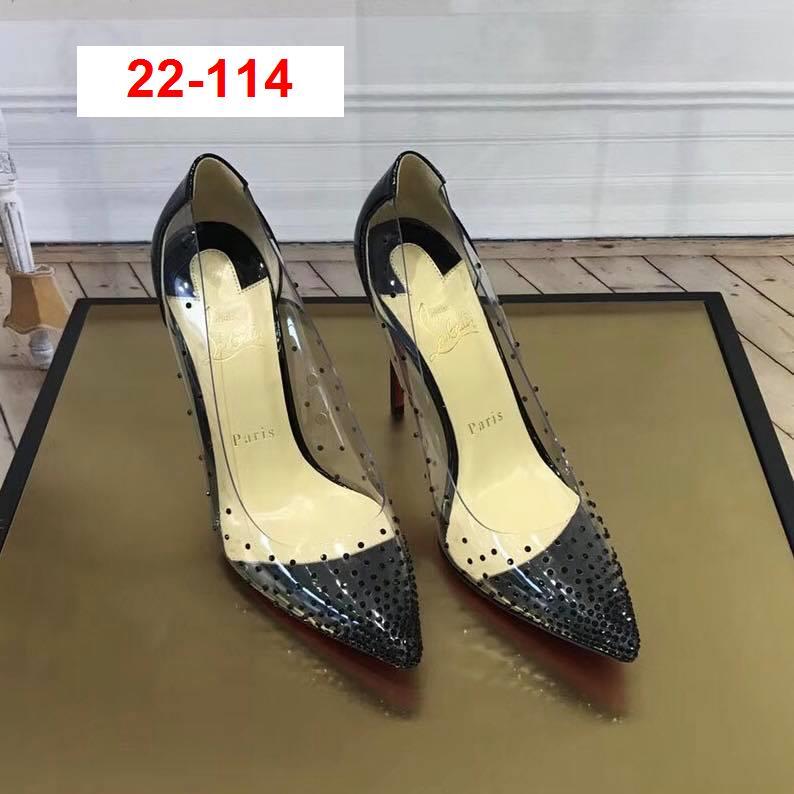 22-114 Louboutin giày cao 10cm đính đá siêu cấp