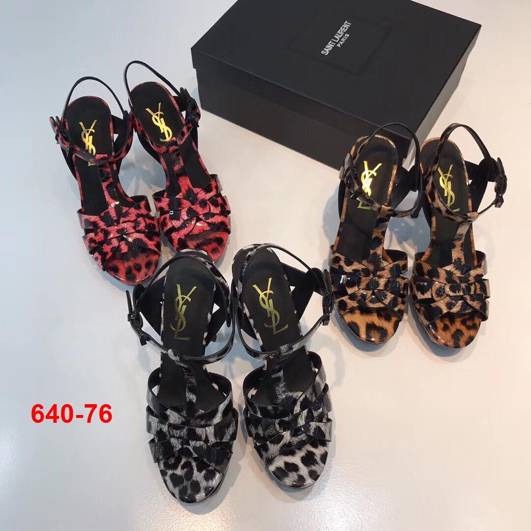640-76 Yves Saint Laurent YSL sandal cao 14cm đế kếp 3cm siêu cấp