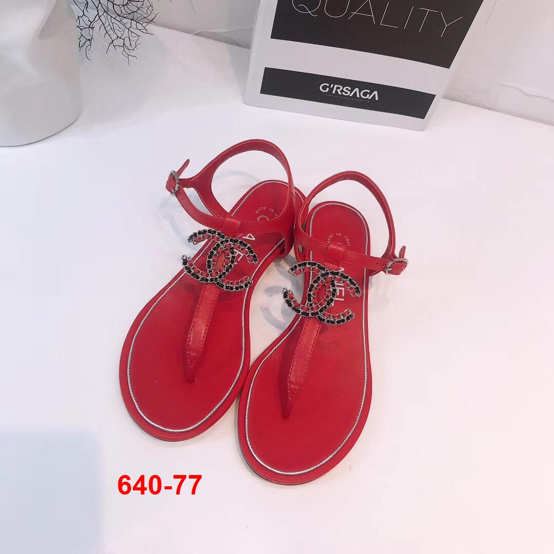 640-77 Chanel sandal bệt siêu cấp