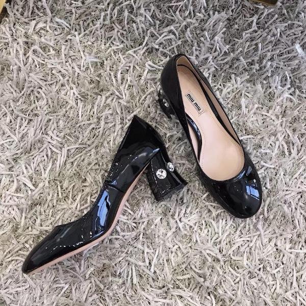 668-104 Miu Miu giày cao 8cm siêu cấp