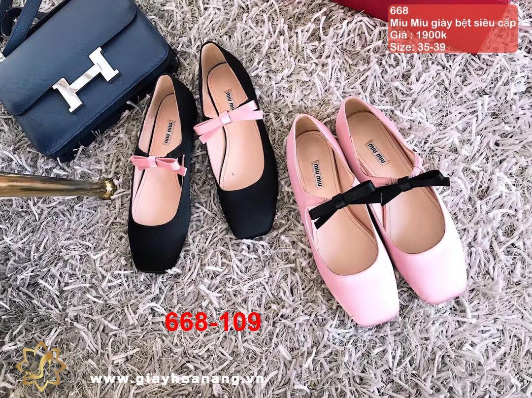 668-109 Miu Miu giày bệt siêu cấp