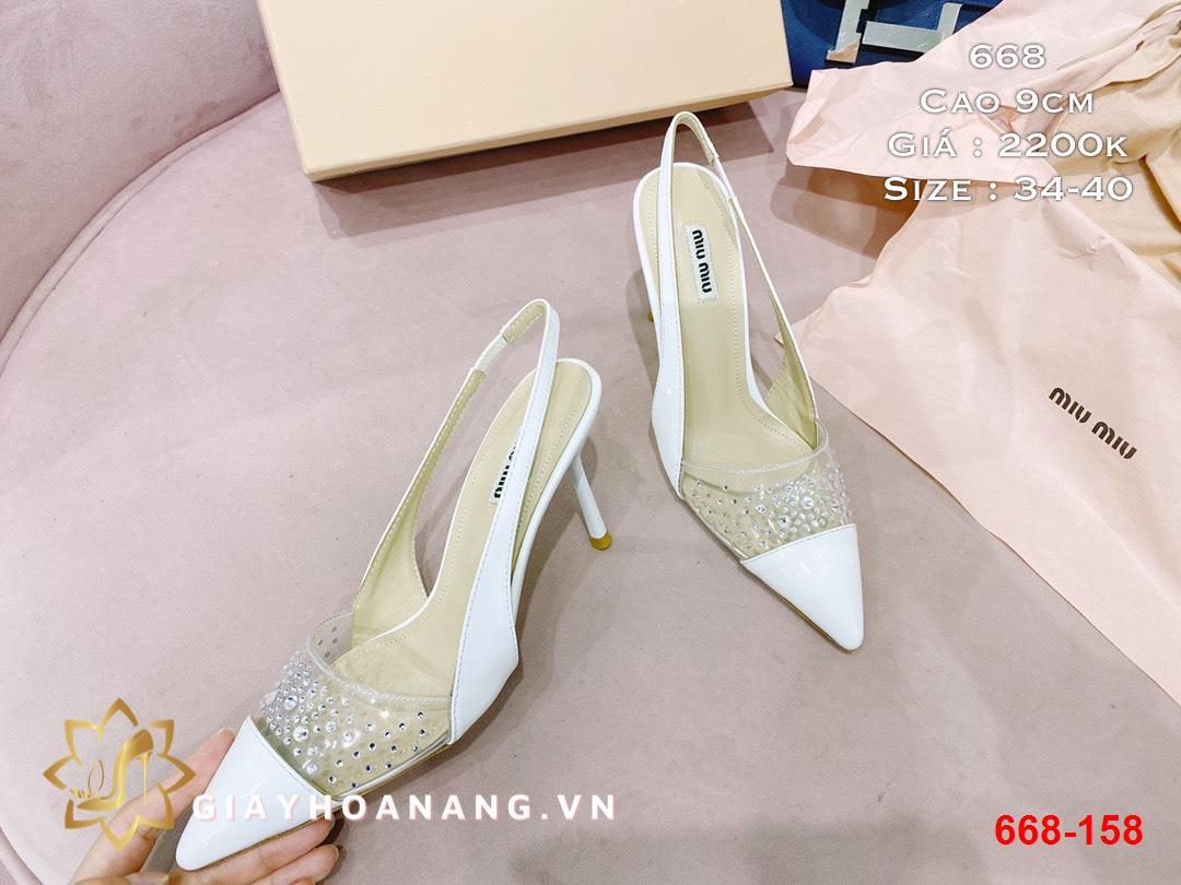668-158 Miu Miu sandal cao 9cm siêu cấp