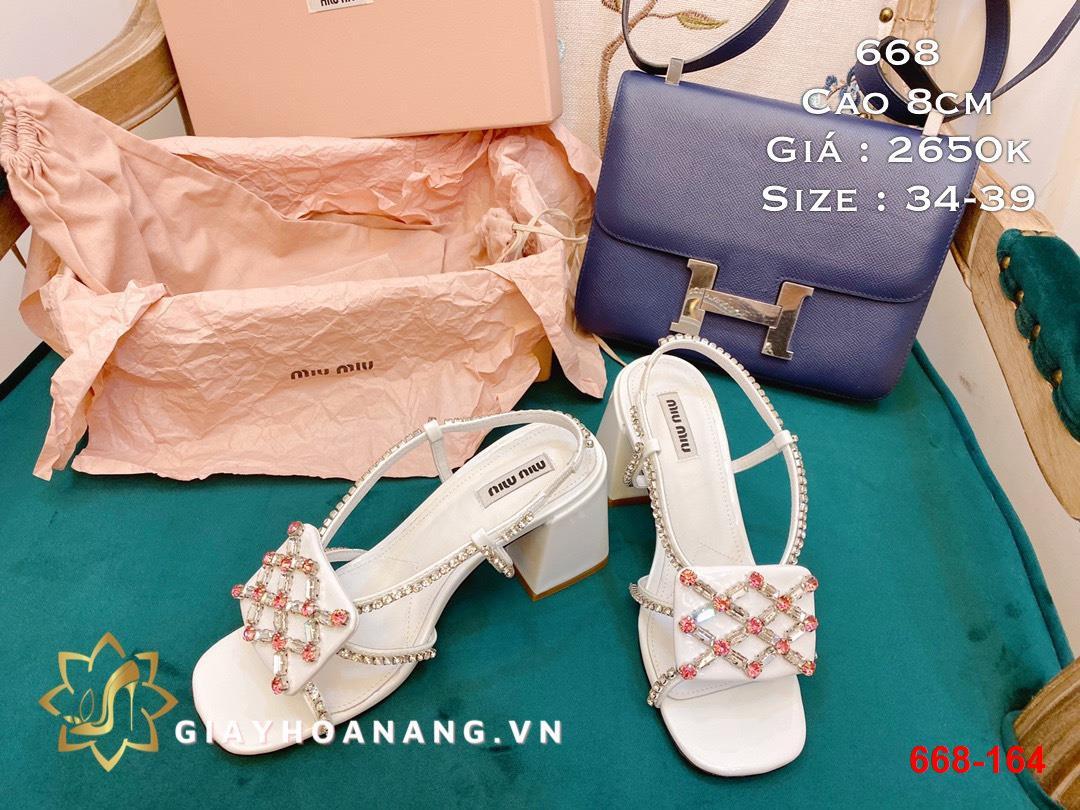 668-164 Miu miu sandal cao 8cm siêu cấp