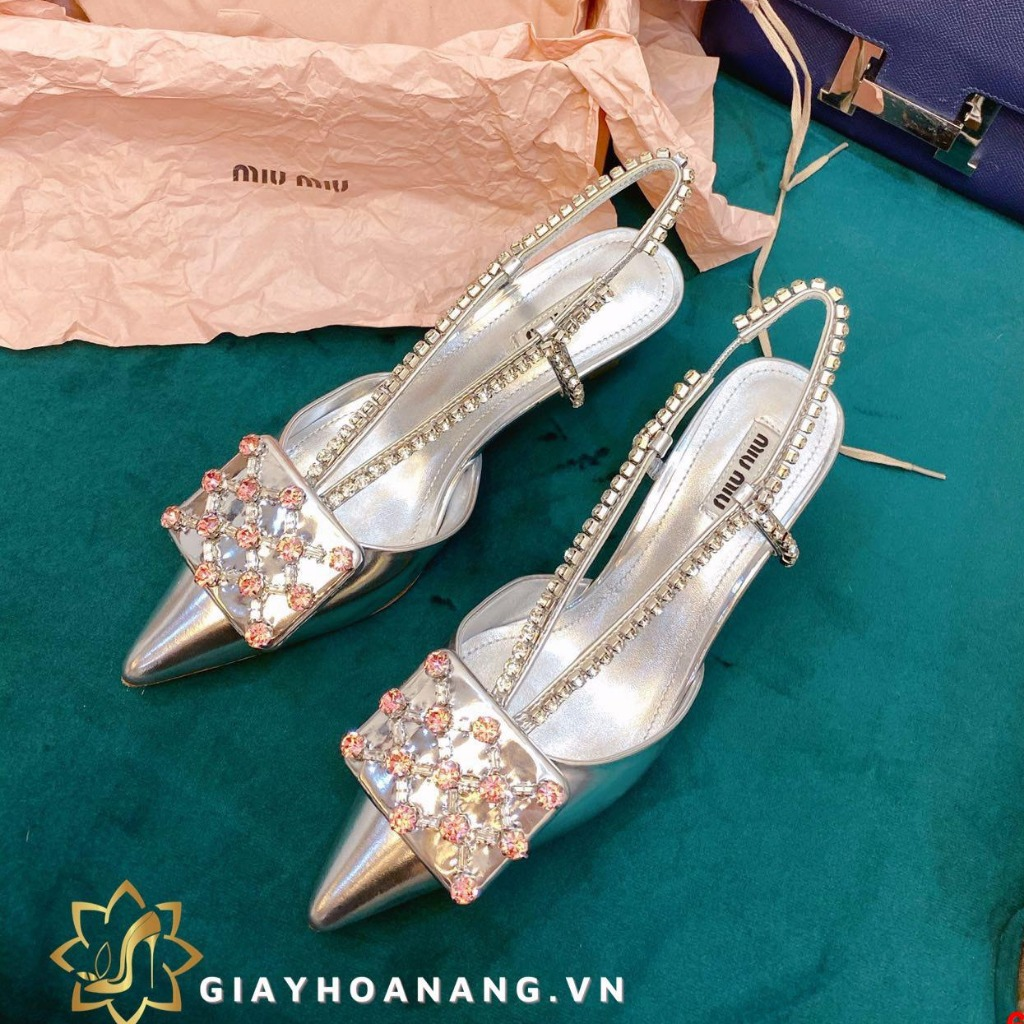 668-165 Miu miu sandal cao 5cm siêu cấp