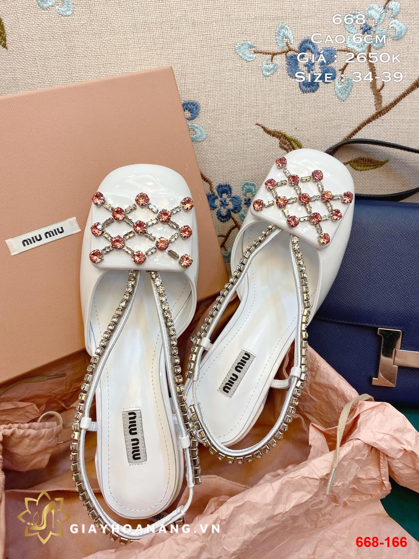 668-166 Miu miu sandal cao 6cm siêu cấp