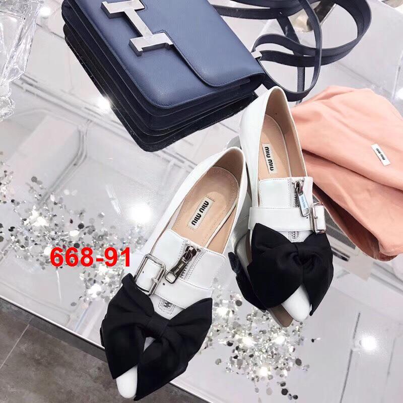 668-91 Miu Miu giày cao 2cm siêu cấp